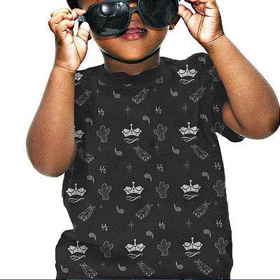Camiseta Infantil Bandana | La Coroa | Chumbo