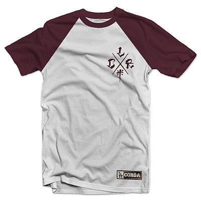 Camiseta  Raglan LCR | La Coroa  | Preto e Mescla