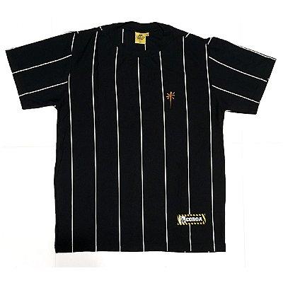 Camiseta  Listrada | La Coroa  | Preta