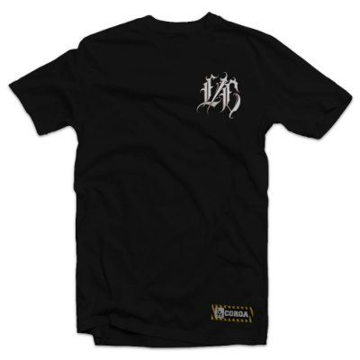Camiseta  L/C Muller Letter | La Coroa  | Preta