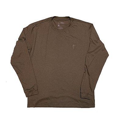 Camiseta Manga Longa Cruz | La Coroa  |Marrom