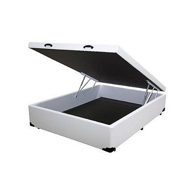 Cama Box Baú Viúva Corino Branco - 128x188x40