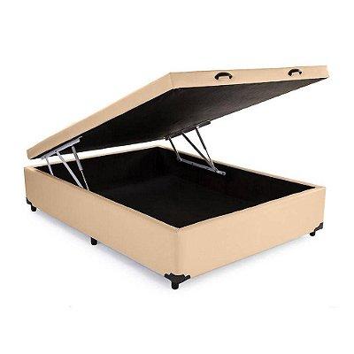 Cama Box Baú Solteirão Corino Bege - 108x198x40