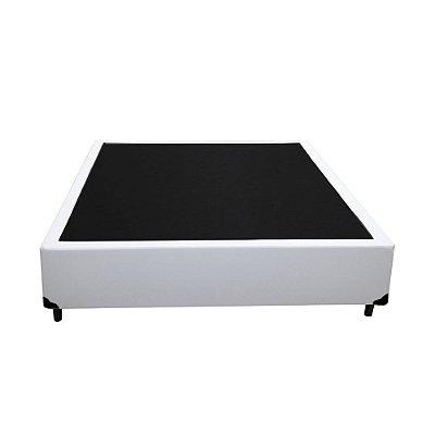 Base Cama Box Casal Sintético Branca - 138x188x39