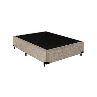 Base Cama Box Solteirão Suede Bege - 108x198x39