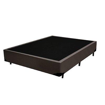 Base Cama Box Solteirão Sintético Marrom - 96x203x39
