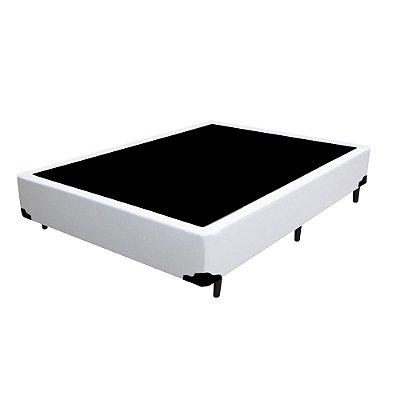 Base Cama Box Solteirão Corino Branca - 96x203x39