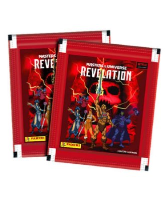 Kit de Figurinhas Masters of the Universe Contém 20 Envelopes (100 Cromos)