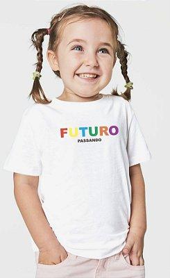 Camiseta infantil Futuro unissex 100% algodão
