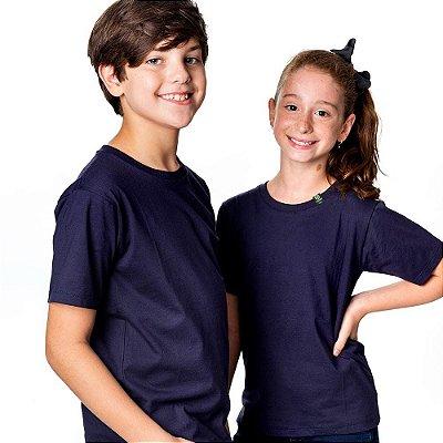 Camiseta infantil básica antiviral unissex 100% algodão