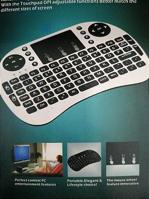 Mini Teclado Sem Fio Com Touchpad Mouse Ideal Para Smart Tv Pc Notebook