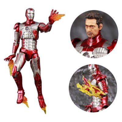 Iron Man ZD Toys (Mark V) + Head do Tony Stark