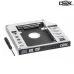 Adaptador Caddy Universal de HDSSD 2.5 para Notebook Baia de 12.7mm para Leitor de DVD DEX AD-1270-acabamento em alumínio e um suporte de até 2000GB (2Tb) e uma velocidade máxima de 6Gbp