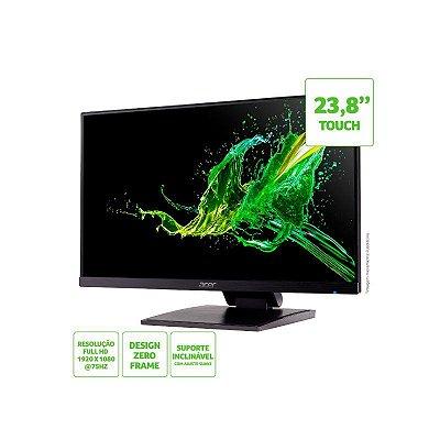 Monitor Acer Multi Touch 23.8 LED Full HD IPS Ut241y VGA - Hdmi - 2xusb2.0 - Usb-c - 75hz