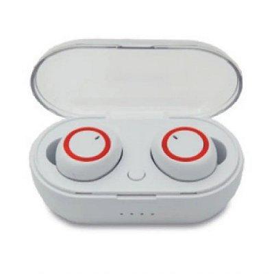 Fone de ouvido Airphone Bluetooth 5.0 FO-2807 Hayom Sem Fio Branco - Alcanse 10mts