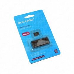 Cartão de Memoria (Pen Drive) 64GB 2x1 Classe 10 e Adaptador Multilaser