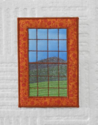 Cartão postal  - série JANELINHAS - ALARANJADA