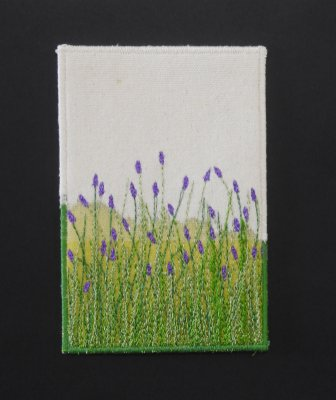 Cartão postal  - série flores - LAVANDAS