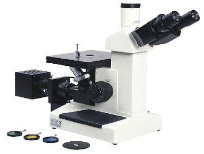 Microscópio Metalográfico Invertido Trinocular com Aumento de 100X Até 1000X