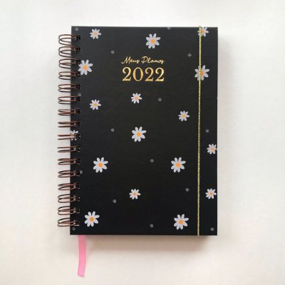 Planner 2022 Flores Preto