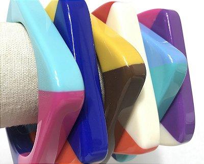 Bracelete Resina/Colorida