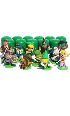 Kit com 11 Bonecos Zelda - Action Figure The Legend Of Zelda Link