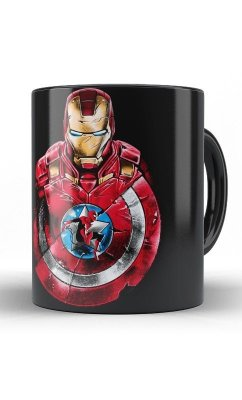 Caneca Comics Captain America The Forces
