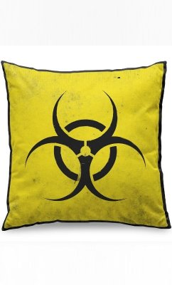 Almofada Biohazard Risco Biológico Presentes Criativos