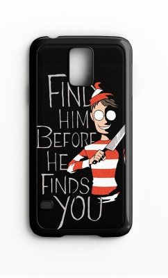 Capa para Celular Wally Find Him Galaxy S4/S5 Iphone S4