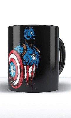 Caneca Capitão America Dark Side