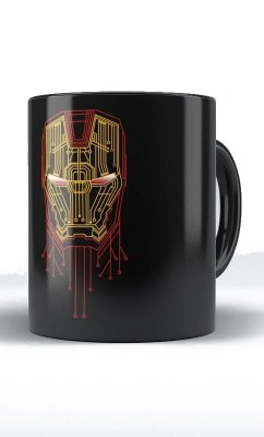 Caneca Iron Man Neon