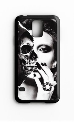 Capa para Celular Girl Skull Galaxy S4/S5 Iphone S4