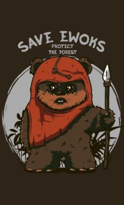 Camiseta Star Wars Save Ewoks