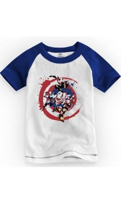 Camiseta Infantil Marvel Comics Captain America
