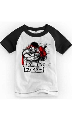 Camiseta Infantil Street Fighter Defense