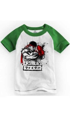 Camiseta Infantil Street Fighter Defense 2