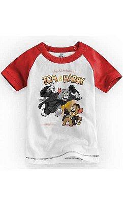 Camiseta Infantil Tom e Jarry