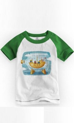 Camiseta Infantil Final Fantasy Airship