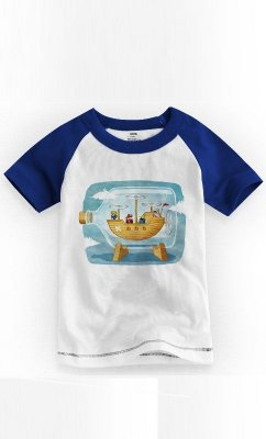 Camiseta Infantil Final Fantasy Airship1
