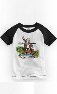 Camiseta Infantil Gandalf and Calvin
