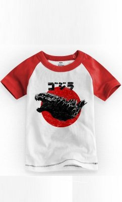 Camiseta Infantil Godzilla 1