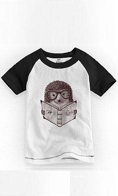 Camiseta Infantil Hipster Hedgehog