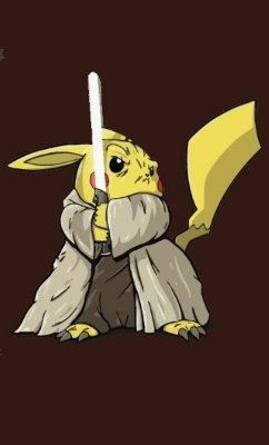 Camiseta Star Wars Pokemon Jedi