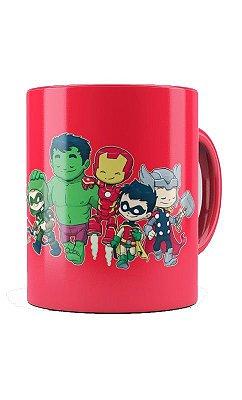 Caneca Homem De Ferro and Hulk