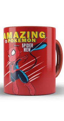 Caneca Spider Men Pokemon