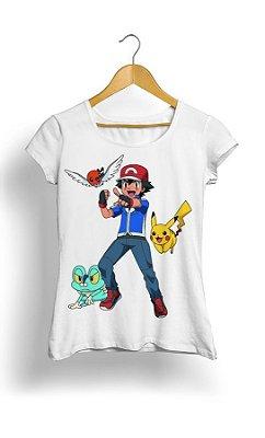 Camiseta Pokemon Pikachu Ash