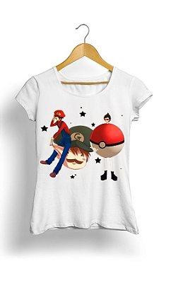 Camiseta Pokemon Pikachu vs Mario