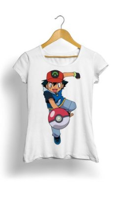 Camiseta Pokemon Pikachu Ash GO