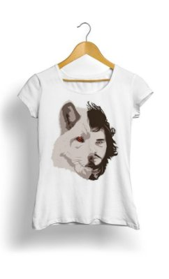 Camiseta Game of Thrones Wolf Jon Snow