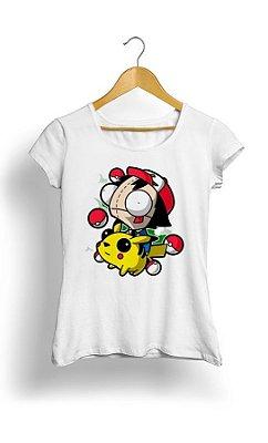 Camiseta Pokemon Pikachu e Ash Happy